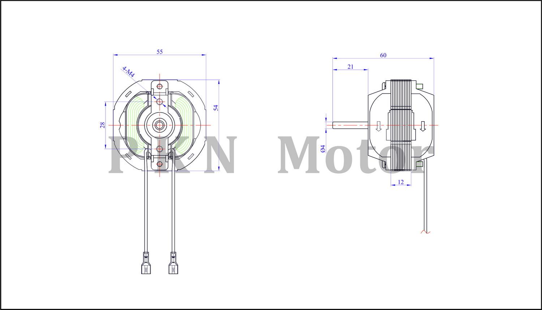 Stand Fan Heater Motor